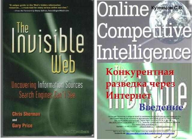 Kuznetsov Serge, Online Competitive Intelligence